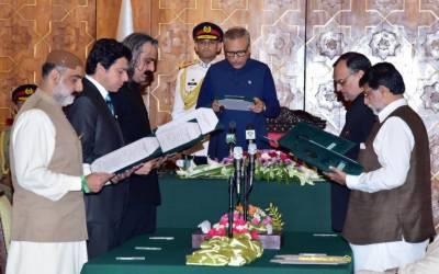 5 نئے وفاقی وزراءاور ایک وزیر مملکت نے حلف اٹھا لیا۔