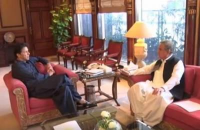 وزیراعظم عمران خان سے وزیرخارجہ شاہ محمود قریشی کی ملاقات، وزیرخارجہ نے دورہ امریکہ اوراقوام متحدہ کی جنرل اسمبلی میں عالمی رہنماؤں سے اہم ملاقاتوں سے متعلق آگاہ کیا