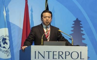چین کی انٹرپول کے سربراہ کو تحویل میں لینے کی تصدیق