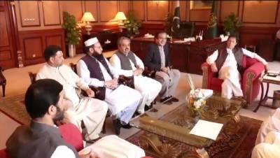 وزیر اعظم سے فاٹا سے تعلق رکھنے والے سینیٹرز کے وفد کی وزیر اعظم آفس میں ملاقات
