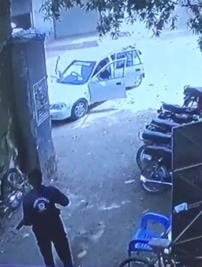 کراچی میں سیکیورٹی گارڈ کے اناڑی پن کی ایک اور مثال منظر عام پر آگئی