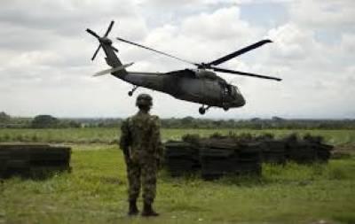 کولمبیا میں فوجی ہیلی کاپٹر گرکرتباہ ہوگیا