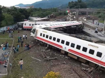 تائیوان میں خوف ناک ٹرین حادثہ،17 مسافر ہلاک اور 137 زخمی