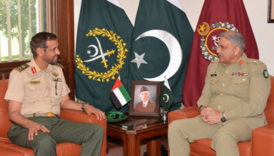 آرمی چیف جنرل قمر باجوہ سے یو اے ای کی بری فوج کے کمانڈر کی ملاقات
