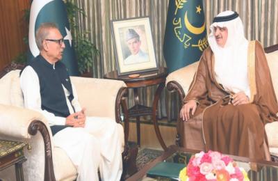 صدر ڈاکٹر عارف علوی سے سعودی سفیر نواف بن سعید المالکی کی ملاقات