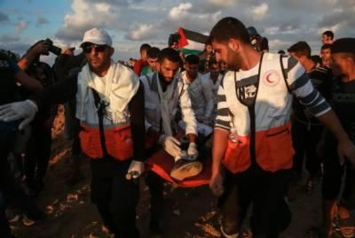 اسرائیلی فوجیوں کے ساتھ جھڑپوں کے نتیجے میں فلسطینی زخمی