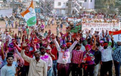 بھارتی ریاست کرناٹک ضمنی انتخابات میں کانگریس اتحاد کو کامیابی