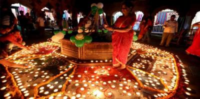 ہندو برادری نے دیوالی کا تہوار مذہبی جوش و جذبے کیساتھ منایا