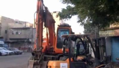 کراچی: صدر اور اطراف میں کے ایم سی کا آپریشن چوتھے روز جاری