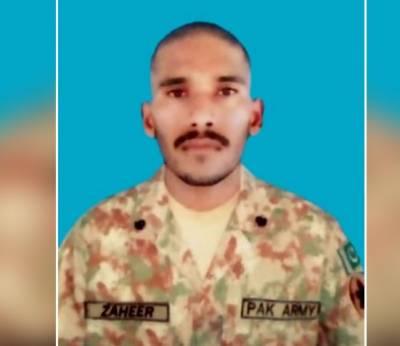 کنٹرول لائن پربھارت کی بلا اشتعال فائرنگ سے پاک فوج کا سپاہی شہید