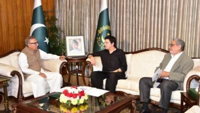 صدر مملکت ڈاکٹر عارف علوی سے وزیر آبی وسائل فیصل واوڈا کی ملاقات,ملک میں آبی ذخائر کی صورتحال پر گفتگو