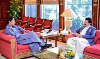 وزیراعظم عمران خان سےچئیرمین سینیٹ صادق سنجرانی کی ملاقات