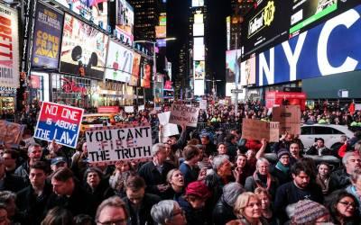 امریکی صدر کے خلاف واشنگٹن اور نیویارک میں مظاہرے