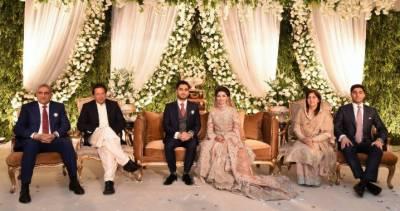 وزیر اعظم عمران خان کی آرمی چیف جنرل قمر جاوید باجوہ کے بیٹے کے دعوت ولیمے میں شرکت