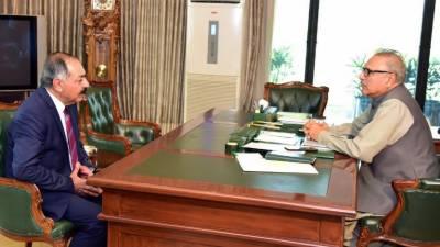 صدر،گورنر بلوچستان کاصوبے میں امن وامان کی صورتحال پر تبادلہ خیال