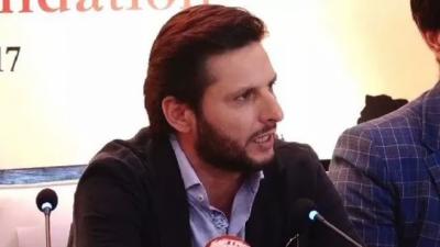 کشمیر سے متعلق بھارتی میڈیا نے میرا بیان توڑ مروڑ کر پیش کیا، شاہد آفریدی
