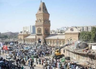 دکانیں گرائے جانے کے خلاف دکانداروں کی درخواستوں کی سماعت: سندھہائیکورٹنےایمپریسمارکیٹکااصلنقشہطلبکر لیا