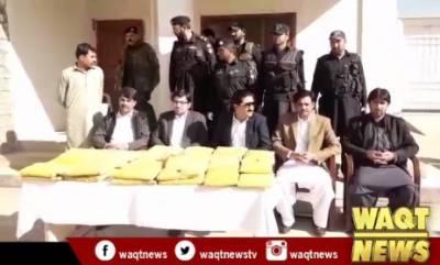 پاراچنار لوئر کرم میں ضلعی انتظامیہ کی کاروائی پک سے بھاری مقدار میں منشیات برآمد کرلی گئی