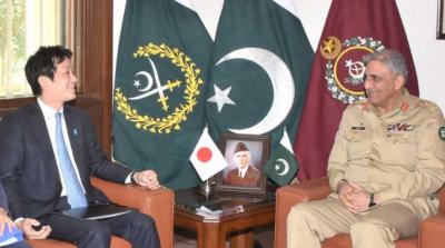 جاپان کے قومی سلامتی کے مشیر کی آرمی چیف سے ملاقات