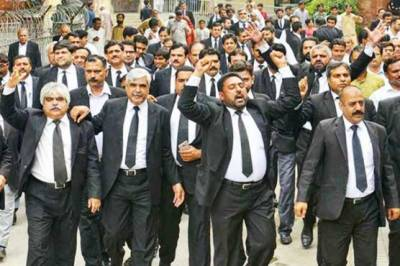 Lawyers protest in Gujranwala & Salkot