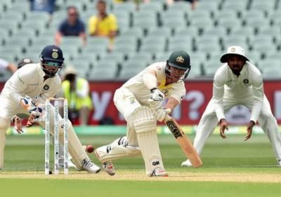 پہلا ٹیسٹ: بھارتی ٹیم پہلی اننگز میں 250 رنز پر آﺅٹ،آسٹریلیا نے 7 وکٹوں پر 191 رنز بنا لئے