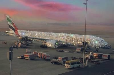 اماراتی ایئرلائن کا ہیرے سے جڑا طیارہ