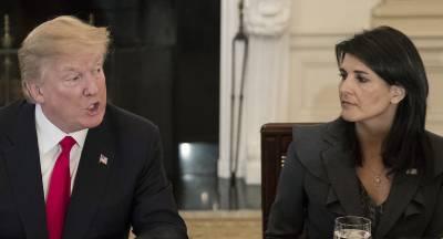 صدر ٹرمپ جلد ہی ٹویٹر کے ذریعے نیکی ہیلی کی جگہ نئی ایلچی ناورٹ کی تقرری کا اعلان کریں گے