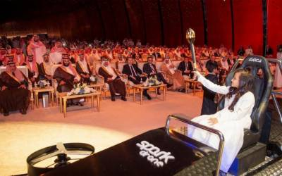 سعودی ولی عہد نے شاہ سلمان توانائی پارک کے پہلے مرحلے کا سنگِ بنیاد رکھ دیا