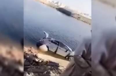 سعودی عرب: خاتون گاڑی سمیت جھیل میں جا گری