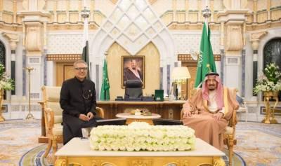صدرعارف علوی،سعودی شاہ سلمان بن عبدالعزیز کا دوطرفہ اقتصادی تعلقات پر تبادلہ خیال