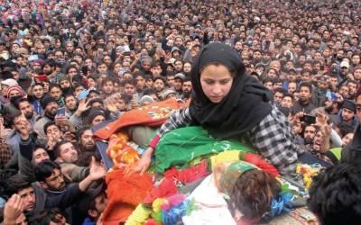 بھارتی فوج کے ہاتھوں شہید دونوجوان سپرد خاک،نماز جنازہ میں ہزاروں افراد کی شرکت
