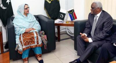 پاکستان،جنوبی افریقہ کے درمیان دفاعی تعلقات کے فروغ کے مواقع موجود ہیں،زبیدہ جلال