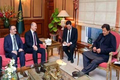 وزیراعظم سے ترک وزیر داخلہ کی ملاقات، دو طرفہ تعلقات پر گفتگو