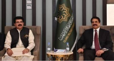 چیئرمین سینیٹ صادق سنجرانی کی جنرل (ر) راحیل شریف سے ملاقات