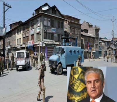 مقبوضہ کشمیر میں صدر راج بھارتی مظالم کا منہ بولتا ثبوت ہے، شاہ محمود قریشی