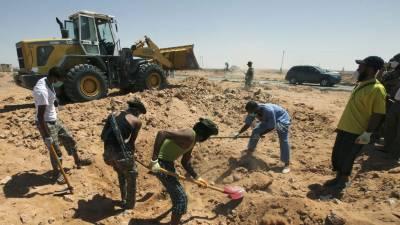 لیبیا میں اجتماعی قبر سے 34 ایتھیوپیائی باشندوں کی لاشیں برآمد