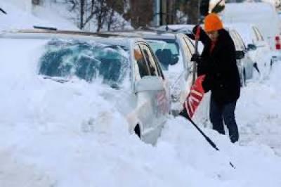 امریکا میں شدید برف باری، ہلاکتوں کی تعداد 7ہوگئی