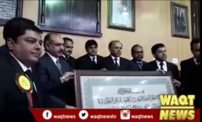 جسٹس لاہور ہائیکورٹ عاطر محمود کا ڈسٹرکٹ اینڈ سیشن کورٹ سیالکوٹ کا دورہ