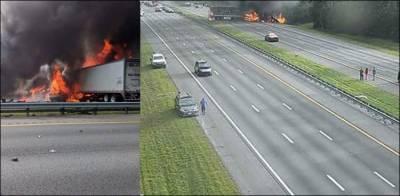 امریکا میں خوفناک ٹریفک حادثہ، 6 افراد ہلاک متعدد زخمی