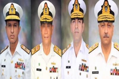 پاک بحریہ کے 4 ریئر ایڈمرلز کی وائس ایڈمرل کے عہدے پر ترقی