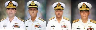 پاک بحریہ کے 4 ریئر ایڈمرلز کو وائس ایڈمرلز کے عہدے پر ترقی دے دی گئی
