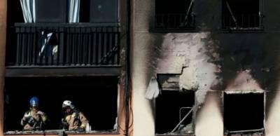 بادالونا کی رہائشی عمارت میں آتشزدگی