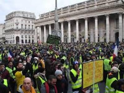 فرانس میں تیل کی قیمتوں میں اضافے کیخلاف مظاہرے