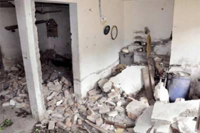 راولپنڈی: گیس لیکج دھماکے سے گھر منہدم، ایک خاتون زخمی
