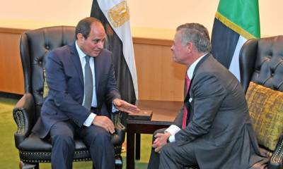مصری صدرکا دورہ اردن ، شاہ عبداللہ سے مذاکرات