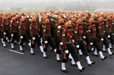 نئی دہلی میں فوجی پریڈ کی ریہرسل کے دوران پاکستان زندہ باد کے نعرے