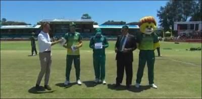 دوسرا ون ڈے: جنوبی افریقہ کا پاکستان کے خلاف ٹاس جیت کر فیلڈنگ کا فیصلہ