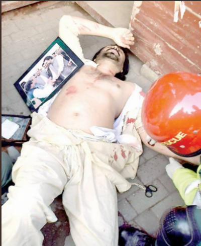 نواز شریف کو علاج کی سہولت نہ دینے پر مسلم لیگ ن کے کارکن عدیل نے خود کو چھری سے زخمی کر لیا