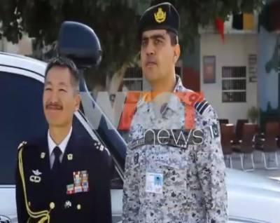 جاپانی بحریہ کی میری ٹائم فورس برائے اینٹی پائریسی کے دو P3C جہازوں کی پاکستان آمد. ترجمان پاک بحریہ