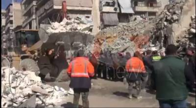 11 killed in building collapse in Syria